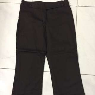Mango 3/4 Pants Dark Brown