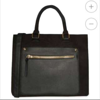 ATMOSPHERE Suede and Leather Tote Carryall
