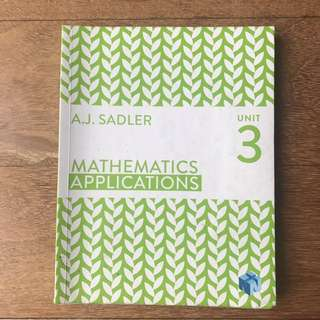 Maths Applications Unit 3 Sadler