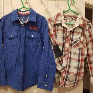 2 x boy's Guess dress shirts size 7