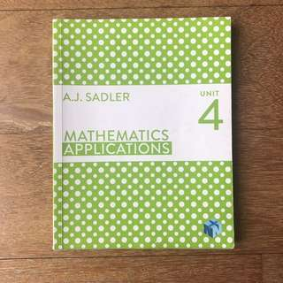 Maths Applications Unit 4 Sadler