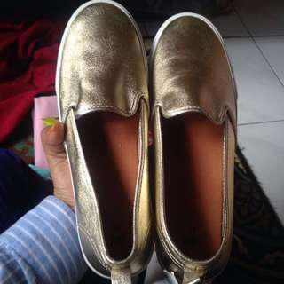 HnM Gold Shoes