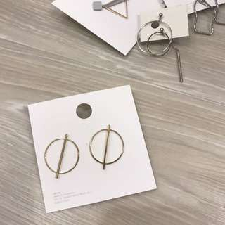 韓國 圓圈造型耳環