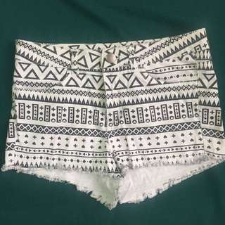 H&M Divided Aztec Shorts