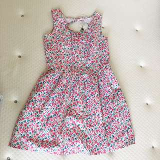Pink floral dress size 8 new