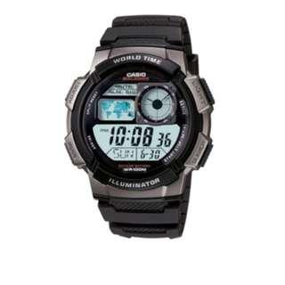 Casio Youth Men Black Resin Strap Watch AE-1000W-1B