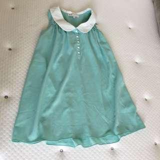 Mint green cute long sleeveless shirt
