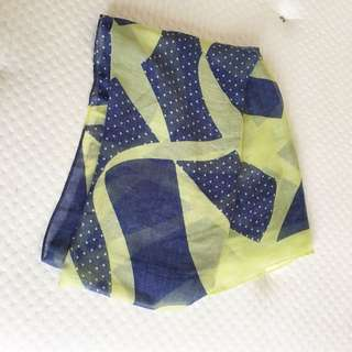 Brand new blue and green scarf