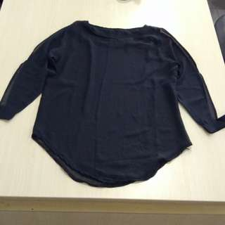 black shouder blouse