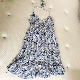 Factories size xs blue with with floral dress
