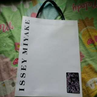 Issey Miyake 風琴紙袋paper back 兩個two size見圖一及圖四 See Pic 1 & 4