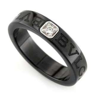 [Original] Bvlgari Black Ceramic Diamond Ring