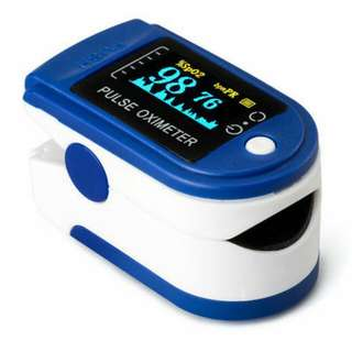 JZK-301 Fingertip Pulse Oximeter Oximetry Blood Oxygen Saturation Monitor Blue Medical Digital Blood Pressure Monitor