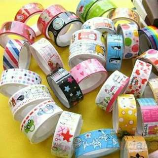 <Repeat Order FREE GIFT+10% OFF> Cartoon Pattern Adhesive Decoration Tape Roll