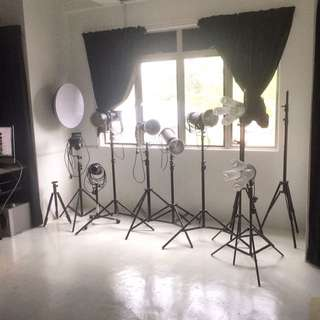 Studio photography/video rental and service