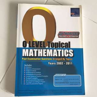 O Level Topical mathematics