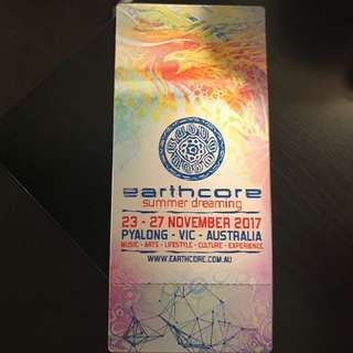 EARTHCORE MELBOURNE 2017 TICKET FOR SALE