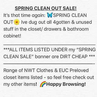 My SPRING CLEAN 🙈 | $1o & UNDER SALE!