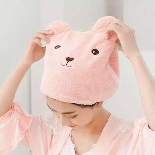 Cute Pink Dry Hair Cap