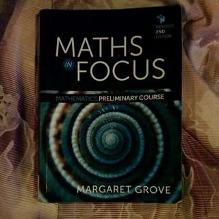 Preliminary Maths In Focus Textbook