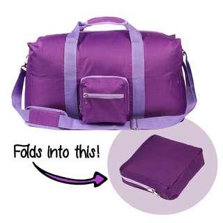 Le Organize Alphra Ripstop Foldable Duffle Bag - Pink