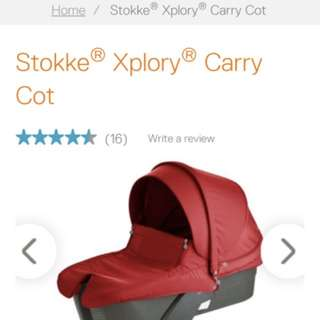 Stokke Xplory red carry cot