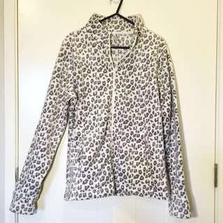 Fluffy Leopard Print Jacket