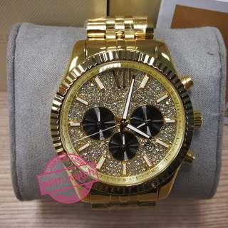 **MK watch #MK8494 Lexington Gold-Tone Watch
