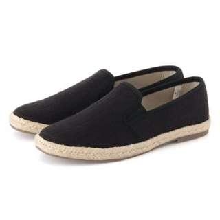 🚚 ⚫️無印良品⚫️ 草編基本便鞋 黑色 M號