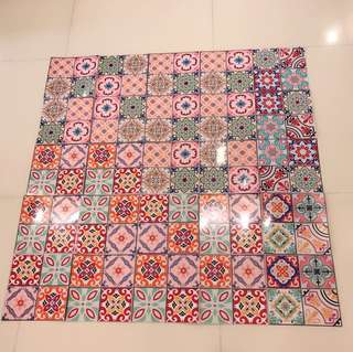Lovely colour wallpaper adhesive sheet. Revamp it!