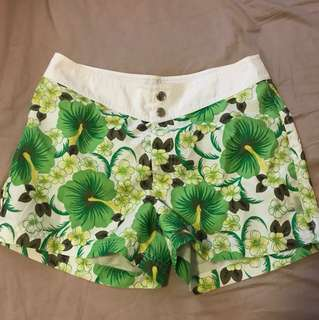 Esprit swim shorts green summer floral