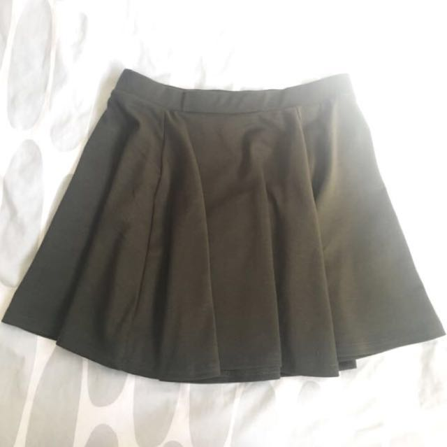 $15 for both Topshop and Cotton on skater skirt