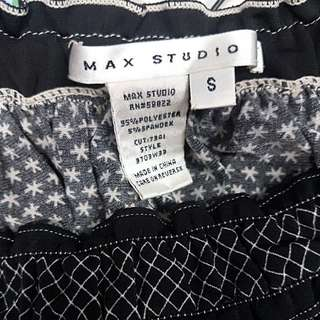 Max studio black and white snow / star ladies woman blouse top size s Reduced