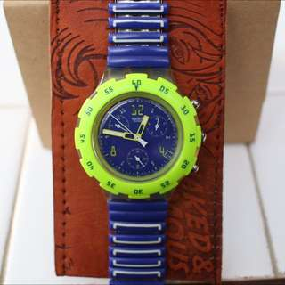 Vintage Swatch With Elastic Bracelet