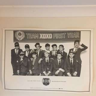 EXO BIG POSTER XOXO OFFICIAL SM MERCHANDISE KOREA