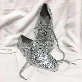 Original Keds💯 Champion Glitter Prints Silver