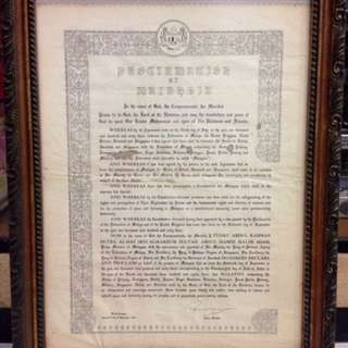 Proclamation of Malaysia (Framed)