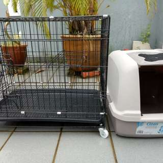 Cat Cage and litter