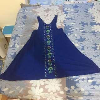 🔥Big Sales🔥ROXY one piece blue embroidery dress