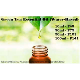 Green Tea Essential Oil (Water-based) for Air Humidifier / Diffuser & Others