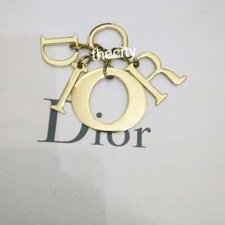 AUTHENTIC DIOR LOGO BAG CHARM / KEYCHAIN