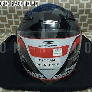 Spyder Titan Half Face Helmet Dual Visor