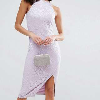 Brand new lace lilac ASOS dress size 6