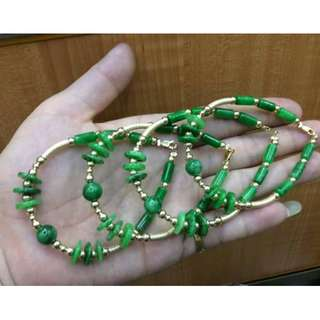 JADE with 10k Gold Bracelet Lucky Charm***For good health and wealth