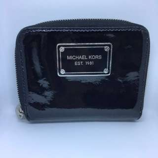 Pre loved black patent leather Michael Kors wallet