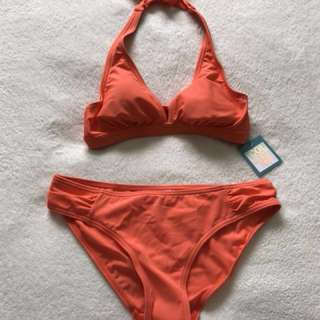 Brand new orange bikini size 8