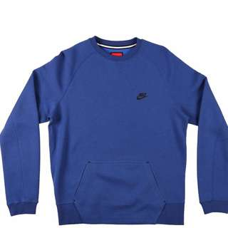 (Almost new) Nike tech fleece crew mens sweatshirt blue Size:L