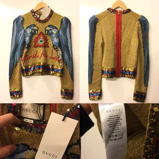 New Gucci gold sweater size P=S