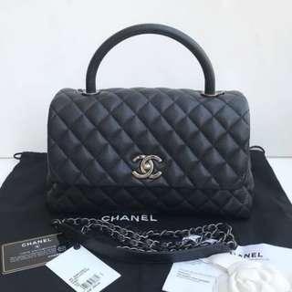 Authentic Chanel Coco Medium Black