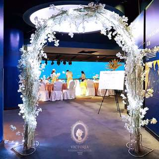Sea Aquarium Sentosa Overall Wedding Decor Solemnisation Reception Stage Arch